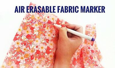 2x Air Erasable Fabric Marker Sewing | Disappearing Marker | UK SELLER