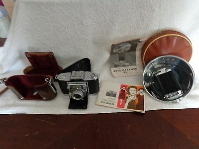 Vintage Used Zeiss Ikon 45Mm Camera Germany With Case And Flash Untested Nr!!