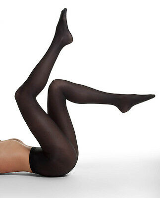 New in Package DANSKIN 4013 PLUS Size 3X BLACK UltraShimmery 1331 Footed Tights