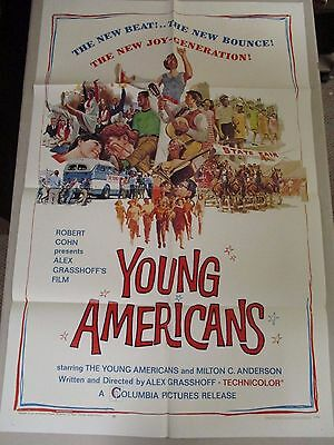 Vintage 1 sheet 27x41 Movie Poster Young Americans 1967 Documentary MUSIC