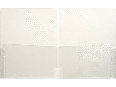 Lion Office Products, CLEAR-LINE 2-Pocket Plastic Folder -1 box of 48 91220