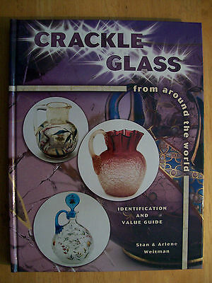 Vintage Crackle Glass Price Guide Collector Book Hardback Color Pics