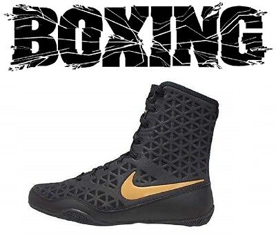 Nike KO Boxing Boots Shoes Boxer Fighter Boxschuhe Black/Gold (001) Boxstiefel