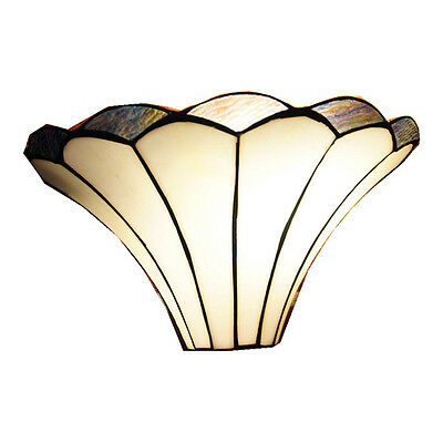 NEW Lilly Soft Curved Lines Tiffany Style Wall Sconce
