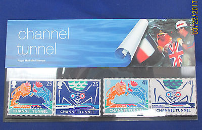 CHANNEL TUNNEL Royal Mail Mint Stamps 1994 Issue in folder