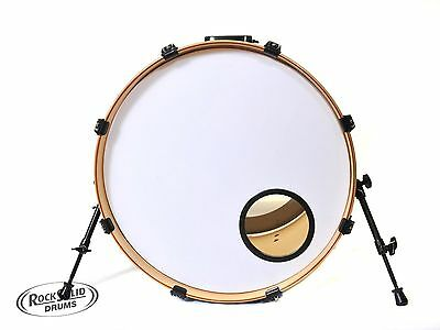 "Rocksolid 20""/22"" Smooth White Bass Drum Skin With Fitted 4"" or 5"" Black O Ring"