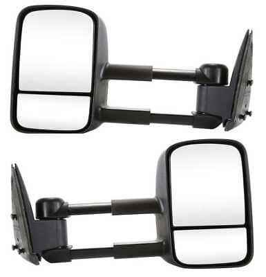 New Pair of Manual Towing Mirrors fits Chev GMC TruckWith Lifetime Warranty