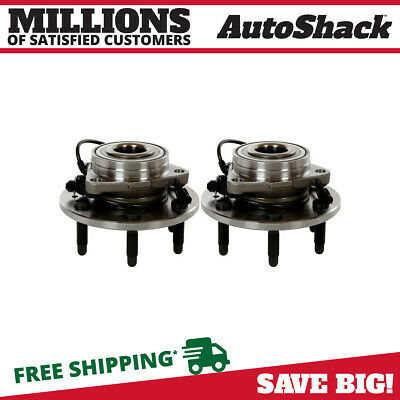 Front Hub Bearing Assembly 6 Lug ABS Pair for GMC Chev Cadillac SUVs and pickups