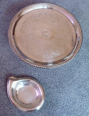 Vintage Silver plated Cake Stand & Int. Silver 1847 Rogers Bros Candy Nut Dish