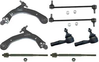 (4) Inner & Outer Tie Rods (2) Sway Bars (2) Lower Control Arms fits Saturn