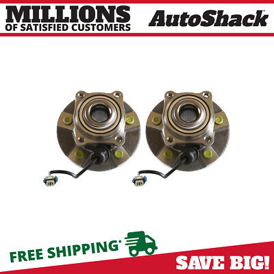Rear Pair (2) Wheel Hub Bearing Assembly Fits 02-07 Saturn Vue w/ABS HB612231PR