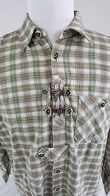 VINTAGE Western National Outfitters Shirt Buttons Cowboy 50s Button Up Unique