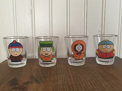 South Park Shot Glass Set Of 4 Cartman Kenny Stan Kyle Comedy Central 1997