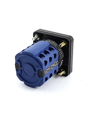 uxcell Square Plastic Panel 3-Pole 4-Position Rotary Select Changeover Switch