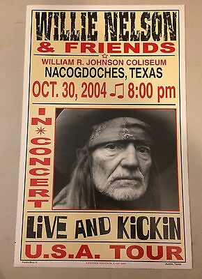 Willie Nelson 2004  Nacogdoches, Texas Concert Poster