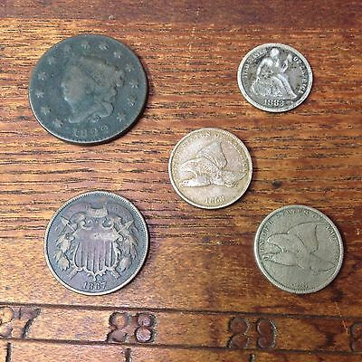 Grandpappys Old Type Coin Coin Lot Cool Mix Of US Type Coins Mixed Coin Collect