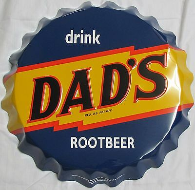 "Dad's Root Beer Sign - 19"" Bottle Cap"