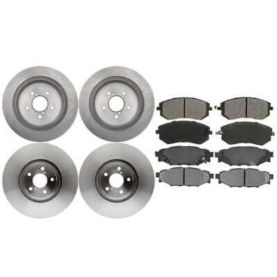 2 Complete Front & Rear Pair 4 Disc Brake Rotors And 8 Ceramic Pads Full Set Kit