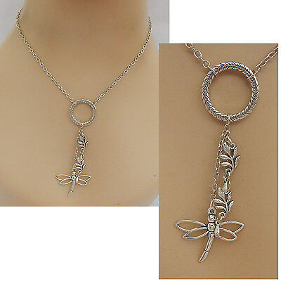 Silver Dragonfly Pendant Necklace Jewelry Handmade NEW Chain Adjustable Fashion