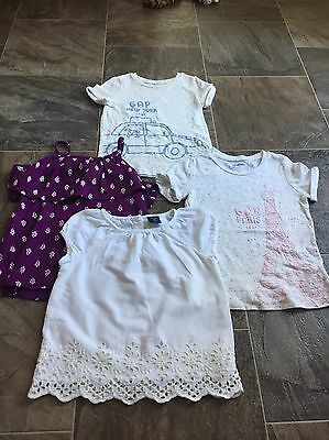 Baby Gap Crazy 8 Toddler Girl Tops Lot Size 4T