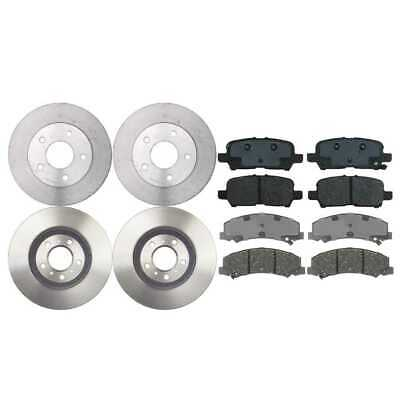 2 Complete Front & Rear Pair 4 Premium Rotors And 8 Performance Ceramic Pads