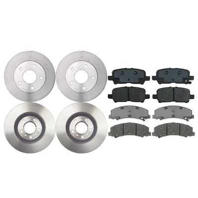 4 Front & Rear Brake Rotors And 8 Performance Ceramic Pads w/Lifetime Warranty