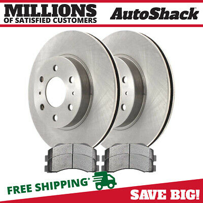 Front (2) Brake Rotors (4) Ceramic Brake Pad Fits 10-2014 2015 Ford F-150 6 STUD