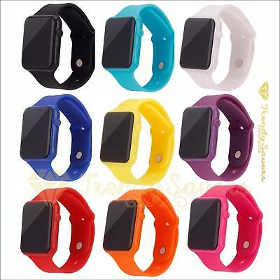 Womens Ladies Mens Kids Digital LED Waterproof  Sports Wrist Watches