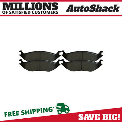 New Premium Complete Set Of Rear Metallic Disc Brake Pads With Shims