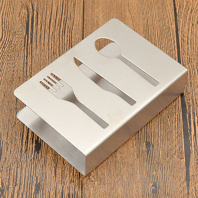 Stainless Steel Fork Spoon Knife Napkin Holder Stand Fashion Tableware Dinner
