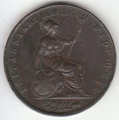 1854 Great Britain Queen Victoria 1/2 Half Penny.
