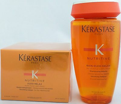 Set KERASTASE Nutritive Oleo-Relax Shampoo + Masque Duo for Dry Rebellious Hair