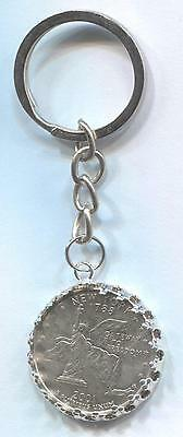 2001 USA State Quarter Coin Key Ring - NEW YORK  #Q40