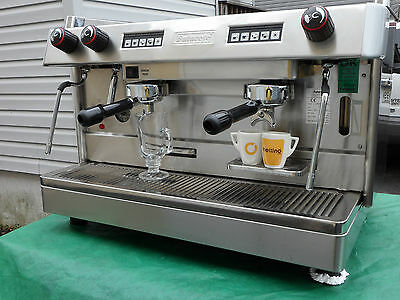 *NEW* 2 Group Tall Espresso Cappuccino Machine  GREAT DEAL for cafe or bakery!