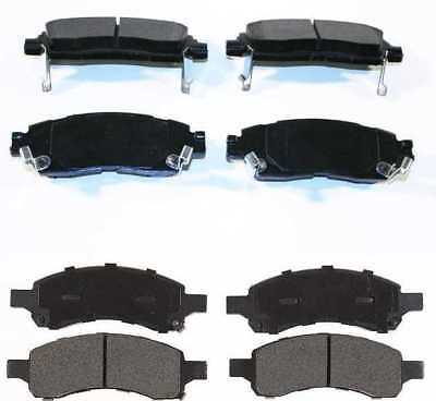 Complete Set of Front and Rear Premium Brake Pads with Lifetime Warranty