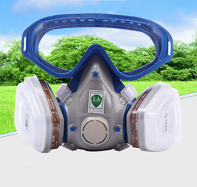 Spraying Face Gas Mask with Goggles Paint glasses 6200 Suit Respirator Painting