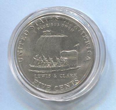 2004 D LEWIS & CLARK USA Nickel Coin in Plastic Case   #Q46