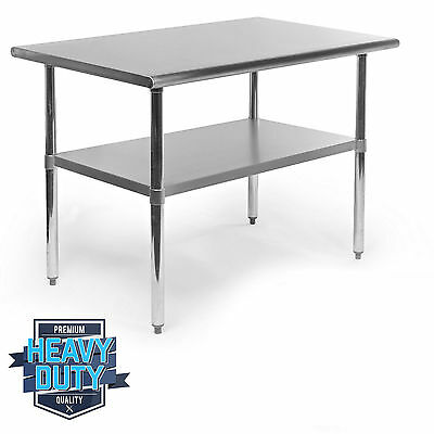 "24"" x 48"" Stainless Steel Work Prep Table Commercial Kitchen Restaurant New t2"