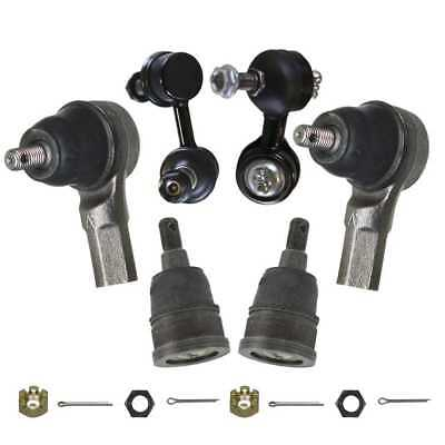 6 piece kit Tie Rods Ball Joints Sway Bars Fits 02-06 Honda w/Lifetime Warranty