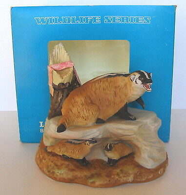 LARGE SIZE WISCONSIN BADGERS Family  Ski Country 1980 Decanter + Original Box