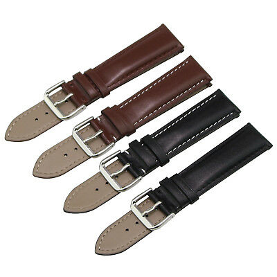 Men's Genuine Leather Band Replacement Watch Strap Black Brown 18 20 22 24 26 mm