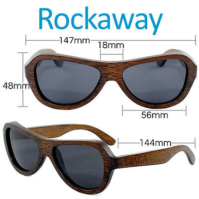 Butterfly Polarized Brown Bamboo Aviator Wood Sunglasses Unisex Mens Womens New