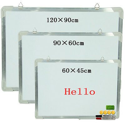 Portable Magnetic Dry Wipe Whiteboard Notice Board Office School Home Common NEW