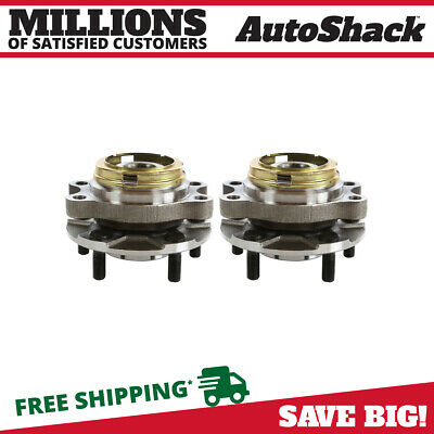 Front Pair (2) Wheel Hub Bearing Assembly Fits 07-2012 Nissan Altima HB613296PR