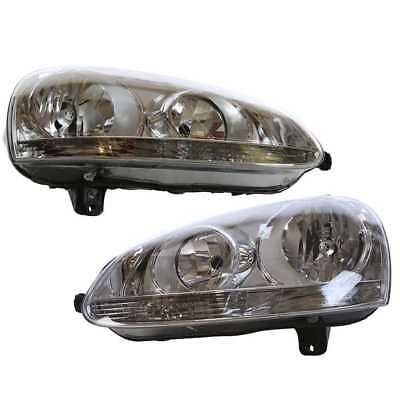 Left & Right Pair (2) of Headlight Assemblies for a 05-10 Jetta or 06-09 Rabbit