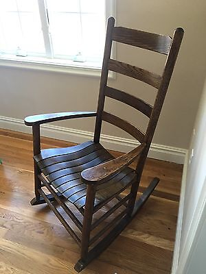 Antique Old Wooden Rocking Chair P/U NY New York Excellent Condition Wood