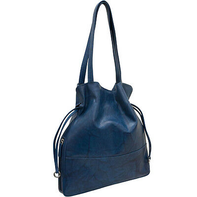 New CTM Women's Leather Tote Handbag with Cosmetic Case