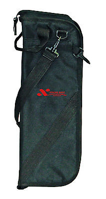 XTREME - Drum Stick bag. Black nylon waterproof yarn. 5mm sponge padding.