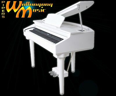 Artesia DG-55W Digital Baby Grand Piano in stunning Polished Ivory finish