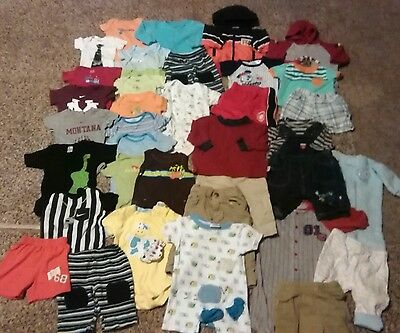 Baby clothes boy 3-6 months, lot of 37+ all seasons